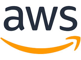 The logo for AWS